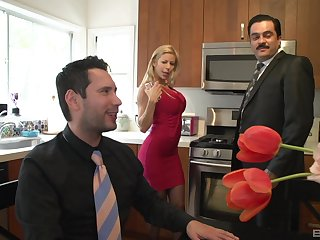 MILF in stockings Alexis Fawx takes every last drop in her mouth