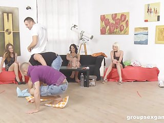 Sophie Lynx and her slutty girlfriends in a hardcore decide sex session