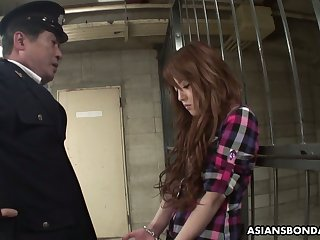 Legendary together with professional Asian blowjob by detention prostitute Ria Sakurai