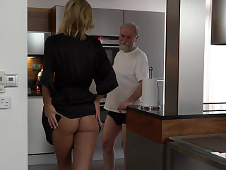 Grandpa's itchy for young pussy