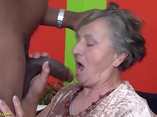 80 years aged grandmother very prime multiracial