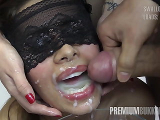 Premium Bukkake - Victoria swallows 81 big snack cumloads
