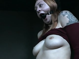 Gagged gripe on touching merciless hardcore BDSM scenes