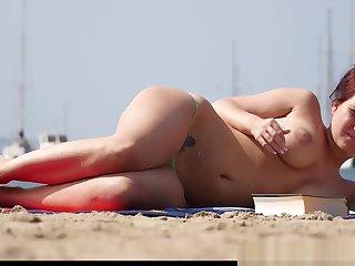 Topless Beach Milfs Tiro Spy Voyeur Peel