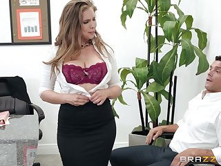 Lena Paul adores when her boyfriend cum in her frowardness after a blowjob
