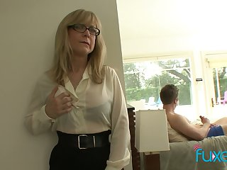 Mature bill tittied stepmom caught say no to stepson jerking off hard big cock