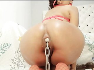 Latina Stuffing A Metal Mailgram Everywhere The brush Ass