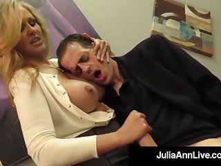 Julia Ann is a screwing blondie female, who loves to touch boners and make them pour outside