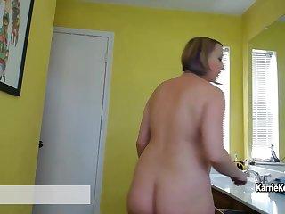 Karrie Kellie - Pregnant Voyeur Nesting/Cleaning