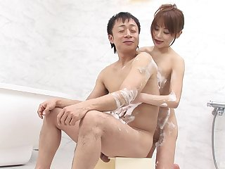 Japanese wife pleases man with erotic oral sexual congress and essential porn