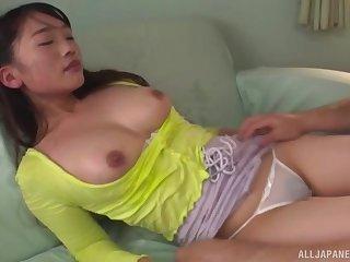 Kinky wife Fujitani Maho loves to fondle before having nice sex