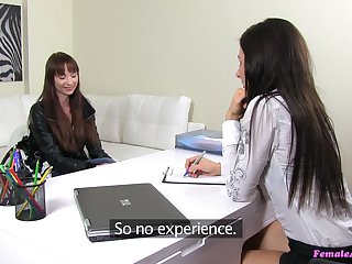 Job interview requires from Chelsy Sun to have sex with hot Lara