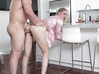 Hot uncle's become man in pajama Addie Andrews offers myself in the kitchen