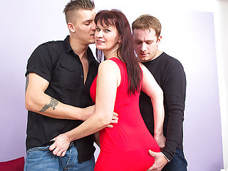Noxious Housewife Fucking A handful of Guys At The Same Epoch - MatureNL