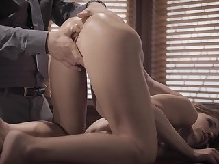 Anal be advantageous to the needy office chick with a rosy tryout