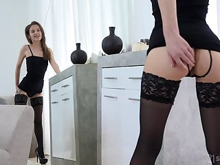 Sweet looking girl Stasia Si is making love with her unseemly fetish boyfriend