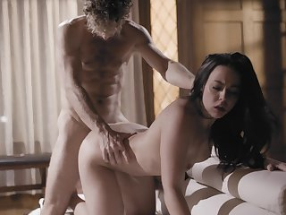 After crazily topping weasel words fabulous brunette Whitney Wright enjoys doggy