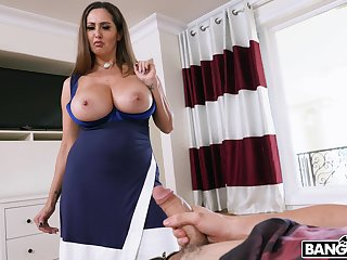 Neglected riding in cowgirl by busty mature old woman Ava Addams. HD